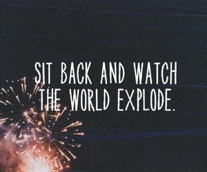 quote, fireworks, and world image