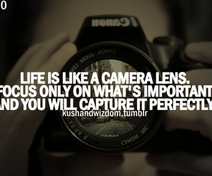 quote, camera, and life image