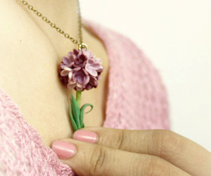 jewelry, necklace, and violet image