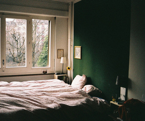 bedroom, bed, and vintage image