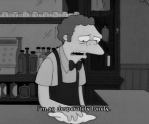 lonely, moe, and the simpsons image