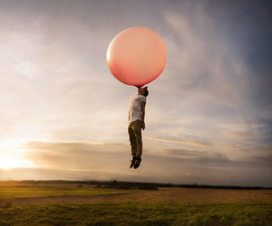 photography, balloons, and boy image