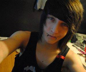 boy, emo, and piercing image
