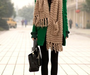 fashion, scarf, and winter image