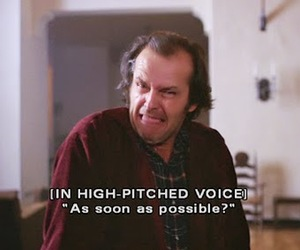 quote, The Shining, and jack nicholson image