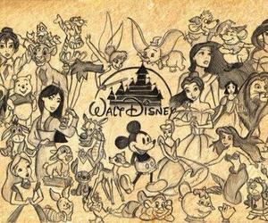 disney, walt disney, and princess image