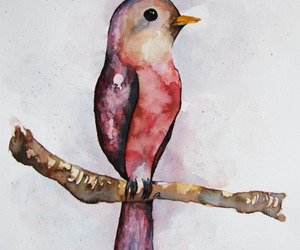 art, bird, and painting image