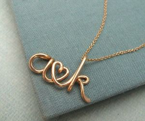 love, gold, and necklace image