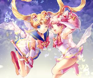 sailor moon, anime, and chibiusa image