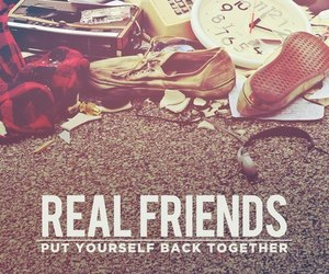 cd, music, and real friends image