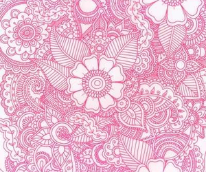 pink, flowers, and wallpaper image