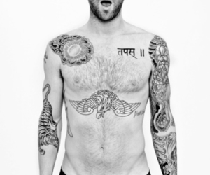 adam levine, sexy, and tattoo image