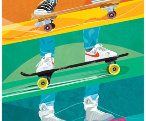 Back to the Future and skateboard image