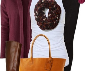 bags, brown, and fall image