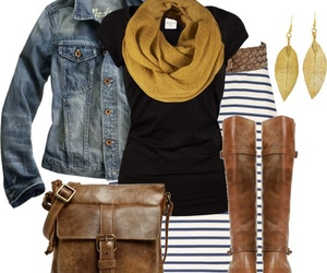 bags, denim jacket, and pretty image