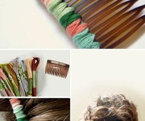hair, diy, and comb image