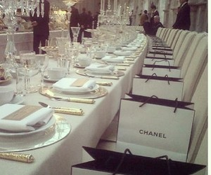chanel, dinner, and luxury image