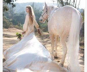 horse, white, and dress image