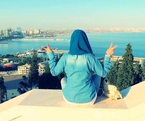 girl, hijab, and voile image