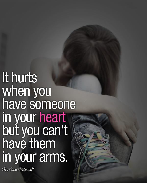 It Hurts When Sad Love Picture Quotes On We Heart It