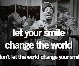 change, world, and smile image
