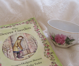 book, cup, and The Secret Garden image
