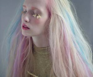 hair, pastel, and pale image