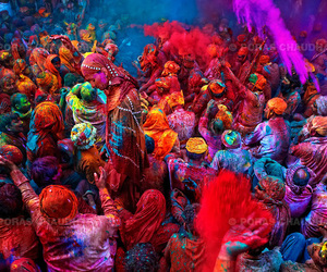 festival, india, and colors image