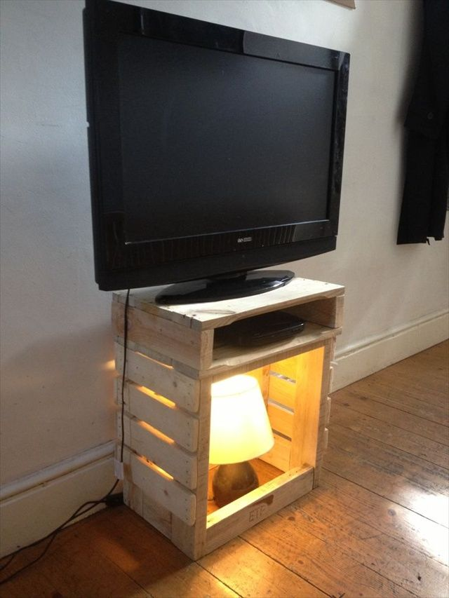 pallet tv stand image