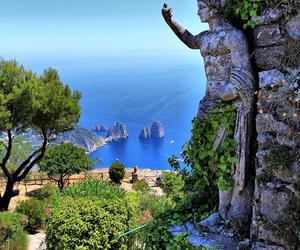 capri, italy, and sea image