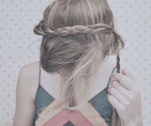 braid, hair, and wallpaper image