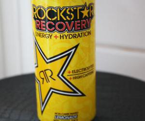 black and yellow, drink, and energy image