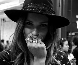 hat, fashion, and rings image