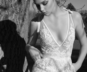 beautiful, lace, and white and black image