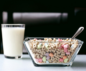 milk, food, and cereal image