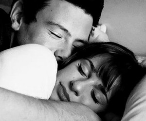 black and white, cory monteith, and forever image
