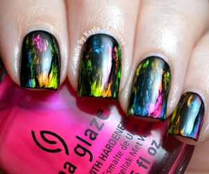 black, girly, and nails image