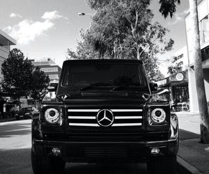 black&white, luxury, and mercedes image
