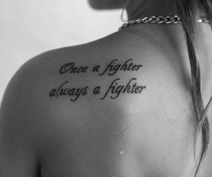 beautiful, black and white, and fighter image