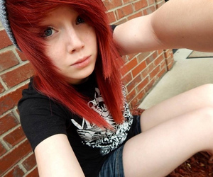 alternative, pale, and red hair image