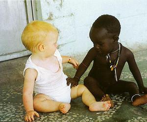 babies, black, and blonde image