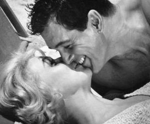 black and white, doris day, and kiss image