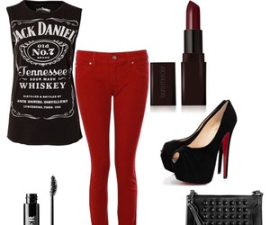 edgy, jack daniels, and outfit image