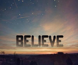 believe and sky image