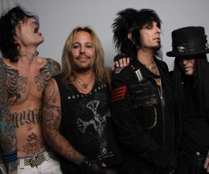 motley crue, tommy lee, and mick mars image
