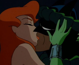 batman, kiss, and poison ivy image