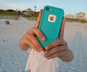 iphone, beach, and quality image