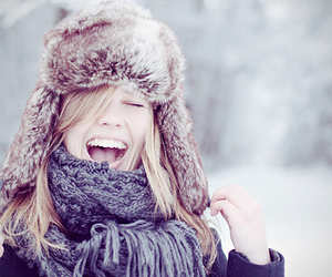 girl, winter, and smile image