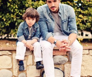 boy and dad image