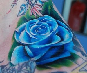 blue rose, Tattoos, and designs image